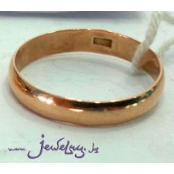 Золотые обручальные кольца шириной 4 мм, 375 пробы.