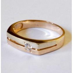 Мужское кольцо с цирконом