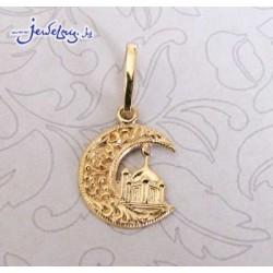 Золотая мусульманская подвеска-талисман